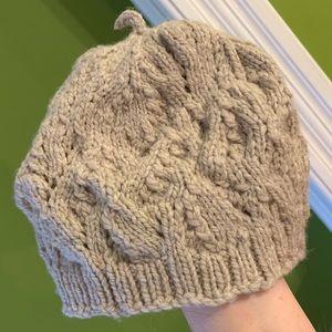 Slouchy Beanie Hat Handknitted